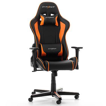 DXRacer Formula F08 (orange) Siège en similicuir avec dossier inclinable à 135° et accoudoirs 3D pour gamer (jusqu'à 100 kg)