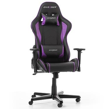 DXRacer Formula F08 (violet) Siège en similicuir avec dossier inclinable à 135° et accoudoirs 3D pour gamer (jusqu'à 100 kg)