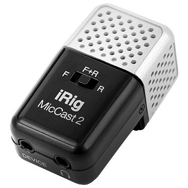 IK Multimedia iRig Mic Cast 2 Microphone compact à directivité ajustable sur prise Jack 3.5 mm pour smartphone (iOS/Android) et iPad