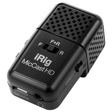 IK Multimedia iRig Mic Cast HD Microphone compact à directivité ajustable sur prise USB pour smartphone (iOS/Android) et iPad