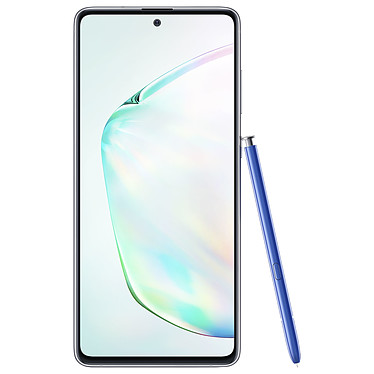 "Samsung Galaxy Note 10 Lite SM-N770 Argent (6 Go / 128 Go) Smartphone 4G-LTE Advanced IP68 Dual SIM - Exynos 9810 8-Core 2.7 Ghz - RAM 6 Go - Ecran tactile 6.7"" 1080 x 2400 - 128 Go - NFC/Bluetooth 5.0 - 4500 mAh - Android 10"