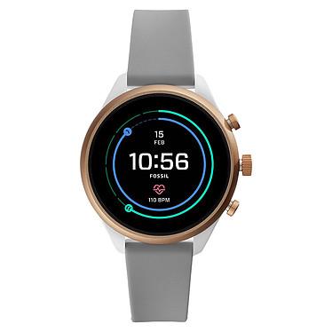 Fossil Sport 41 Smartwatch (41 mm / Silicone / Gris) Montre connectée - Étanche 50 m - GPS - Cardiofréquencemètre - Écran AMOLED - 390 x 390 pixels - 4 Go - Bluetooth 4.2/NFC - Wear OS - Taille du boitier 41 mm - Bracelet en silicone
