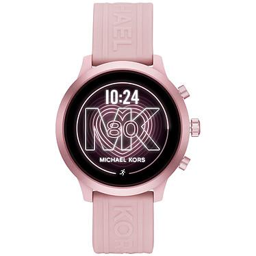 Michael Kors Access MKGO (43 mm / Silicone / Rose) Montre connectée - Étanche 30 m - GPS - Cardiofréquencemètre - Écran AMOLED - Bluetooth 4.2/NFC - Wear OS - Boitier de 43 mm - Bracelet silicone