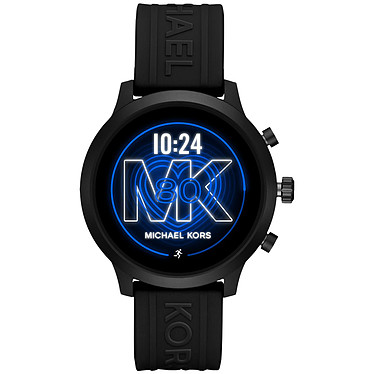 Michael Kors Access MKGO (43 mm / Silicona / Negro) Reloj conectado - Impermeable 30 m - GPS - Cardiofrecuencímetro - Pantalla AMOLED - Bluetooth 4.2/NFC - Wear OS - Caja de 43 mm - Correa de silicona