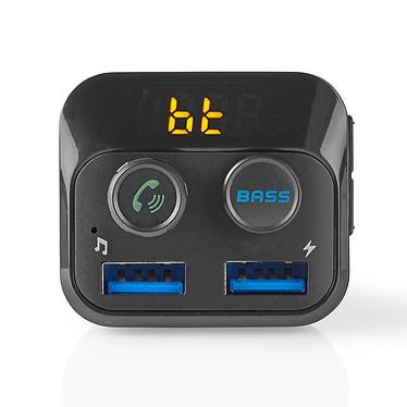 Nedis émetteur FM pour voiture Émetteur FM Bluetooth avec ports USB 3.0 et fonction Bass Boost