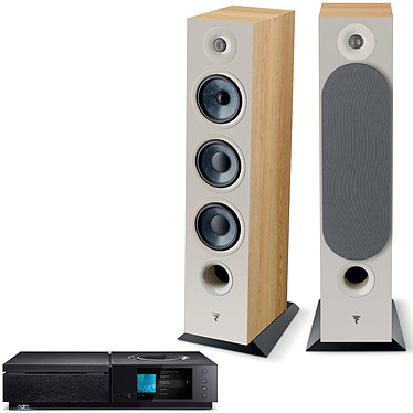 Naim Uniti Star + Focal Chora 826 Light Wood Amplificateur réseau stéréo 2 x 70 Watts - Lecteur CD - Wi-Fi/Bluetooth - Google Cast Audio/AirPlay - Multiroom - USB/HDMI ARC + Enceinte colonne (par paire)