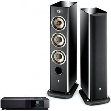 Naim Uniti Nova + Focal Aria 926 Black High Gloss Amplificateur réseau stéréo 2 x 80 Watts - DAC Burr-Brown - Wi-Fi/Bluetooth - Google Cast Audio/AirPlay - Multiroom - USB/HDMI ARC + Enceinte colonne (par paire)