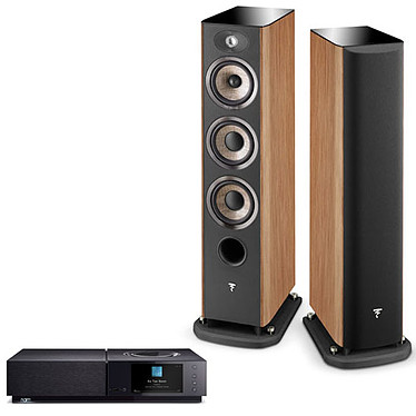 Naim Uniti Nova + Focal Aria 926 Prime Walnut Amplificateur réseau stéréo 2 x 80 Watts - DAC Burr-Brown - Wi-Fi/Bluetooth - Google Cast Audio/AirPlay - Multiroom - USB/HDMI ARC + Enceinte colonne (par paire)