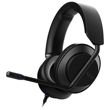 NZXT AER Headset Noir Casque gaming filaire - Circum-aural fermé - Hi-Res Audio - Micro amovible certifié Discord - Compatible PC / Xbox / PS4 / Switch