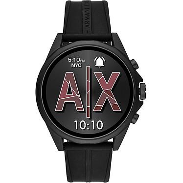Armani Exchange Connected Gen.4 (46 mm / Silicona / Negro) Smartwatch - Resistente al agua 30 m - GPS - Cardiofrecuencímetro - Pantalla AMOLED - Bluetooth 4.2/NFC - Wear OS - Caja de 46 mm - Correa de silicona