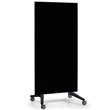 Legamaster Tableau Verre Mobile 90x175cm Noir Tableau en verre magnétique à roulettes - Surface 90 x 175 cm - Coloris Noir