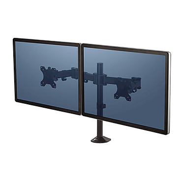 """Fellowes Bras porte écran double Reflex Double bras orientable pour écrans 27"""""""