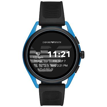 """Emporio Armani Connected Smartwatch 3 Gen.5 (44.5 mm / Goma / Negro y Azul) Smartwatch - Resistente al agua 30 m - GPS - Cardiofrecuencímetro - Pantalla AMOLED de 1.28"""" - 416 x 416 píxeles - Bluetooth 4.2/NFC - Wear OS - Caja de 44.5 mm - Brazalete de acero"""