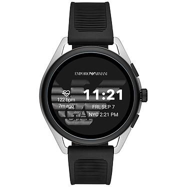 """Emporio Armani Connected Smartwatch 3 Gen.5 (44.5 mm / Goma / Blanco y Negro) Smartwatch - Resistente al agua 30 m - GPS - Cardiofrecuencímetro - Pantalla AMOLED de 1.28"""" - 416 x 416 píxeles - Bluetooth 4.2/NFC - Wear OS - Caja de 44.5 mm - Brazalete de acero"""