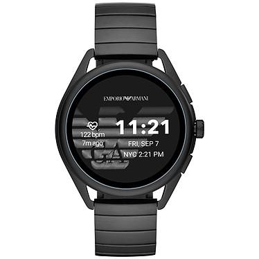"""Emporio Armani Connected Smartwatch 3 Gen.5 (44.5 mm / Acier / Noir) Montre connectée - Étanche 30 m - GPS - Cardiofréquencemètre - Écran AMOLED de 1.28"""" - 416 x 416 pixels - Bluetooth 4.2/NFC - Wear OS - Boitier de 44.5 mm - Bracelet acier"""