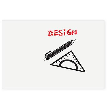 Legamaster Board-Up 75 x 50 cm Tableau blanc magnétique en acier laqué - Effaçable - 75 x 50 cm - Sans cadre - Montage mural avec fixations magnétiques