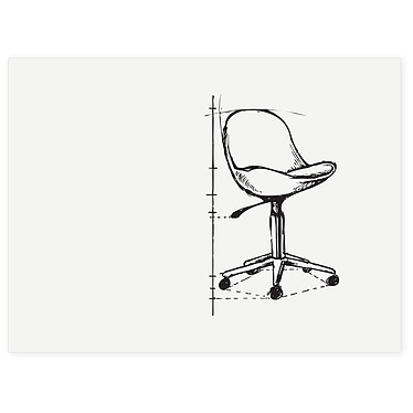 Legamaster Board-Up 75 x 100 cm Tableau blanc magnétique en acier laqué - Effaçable - 75 x 100 cm - Sans cadre - Montage mural avec fixations magnétiques