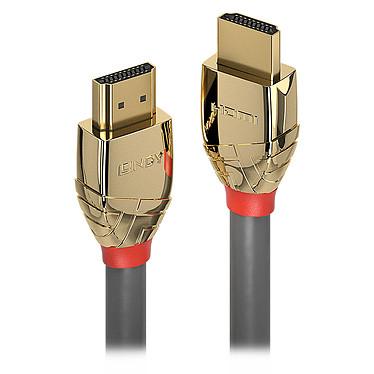 Lindy Gold Line HDMI 4K (0.5 m) Cordon HDMI 4K - mâle/mâle - 0.5 mètre - résolution maximale 4096 x 2160 - revêtement plaqué or 24 carats