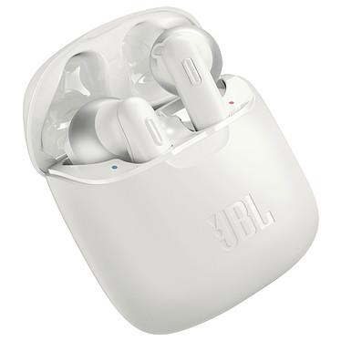 JBL TUNE 220TWS Blanc Écouteurs intra-auriculaires True Wireless - Bluetooth 5.0 - Commandes/Micro - Autonomie 3h - Boîtier charge/transport