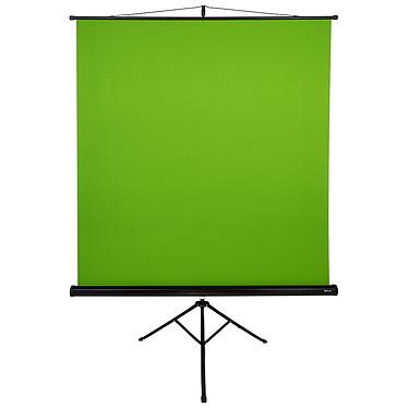 Arozzi Green Screen Fond vert - 157 x 160 cm - rétractable - trepied intégré - idéal pour photo, vidéo, streaming, brodcasting...