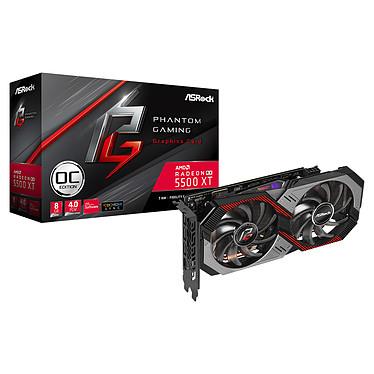 ASRock Radeon RX 5500 XT Phantom Gaming D 8G OC 8 Go GDDR6 - HDMI/Tri DisplayPort - PCI Express (AMD Radeon RX 5500 XT)