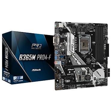 ASRock B365M PRO4-F Carte mère micro-ATX Socket 1151 Intel B365 Express - 4x DDR4 - SATA 6Gb/s + M.2 - USB 3.1 - PCI-Express 3.0 16x