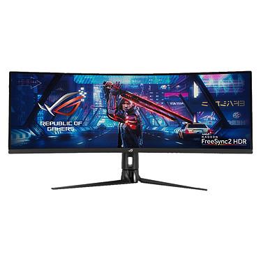 "ASUS 43"" LED - ROG Strix XG43VQ 3840 x 1200 pixels - 1 ms - Format 32/10 - Dalle VA incurvée - 120 Hz - FreeSync2 HDR - HDR - DisplayPort/HDMI - Noir"