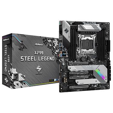 ASRock X299 Steel Legend Carte mère ATX Socket 2066 Intel X299 Express - 8x DDR4 - SATA 6Gb/s + M.2 - USB 3.2 2x2 - 4x PCI-Express 3.0 16x