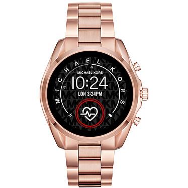 Michael Kors Access Bradshaw 2 Gen.5 (45 mm / Acier / Or et Rose) Montre connectée - Étanche 30 m - GPS - Cardiofréquencemètre - Écran AMOLED - Bluetooth 4.2/NFC - Wear OS - Boitier de 44 mm - Bracelet acier
