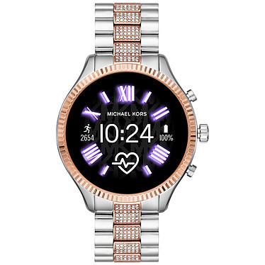 Michael Kors Access Lexington Gen.5 (44 mm / Acero / Plata y Rosa) Smartwatch - Impermeable 30 m - GPS - Cardiofrecuencímetro - Pantalla AMOLED - Bluetooth 4.2/NFC - Wear OS - Caja de 44 mm - Pulsera de acero