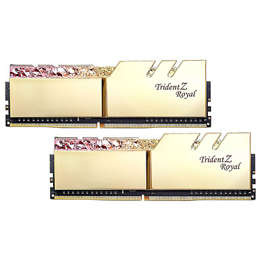 G.Skill Trident Z Royal 64 Go (2 x 32 Go) DDR4 2666 MHz CL18 - Or Kit Dual Channel 2 barrettes de RAM DDR4 PC4-21300 - F4-2666C18D-64GTRG avec LED RGB