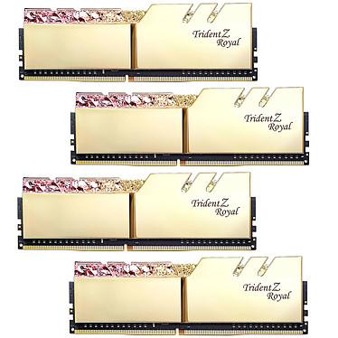 G.Skill Trident Z Royal 128 Go (4 x 32 Go) DDR4 3200 MHz CL16 - Or Kit Quad Channel 4 barrettes de RAM DDR4 PC4-25600 - F4-3200C16Q-128GTRG avec LED RGB