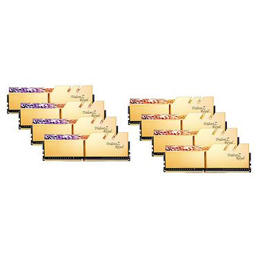 G.Skill Trident Z Royal 256 Go (8 x 32 Go) DDR4 3200 MHz CL16 - Or Kit Quad Channel 8 barrettes de RAM DDR4 PC4-25600 - F4-3200C16Q2-256GTRG avec LED RGB