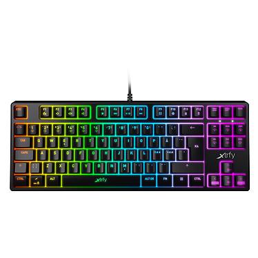 Xtrfy K4 TKL RGB Noir Clavier gaming filaire - format compact TKL - interrupteurs mécaniques (switches Kailh Red RGB) - cadre en aluminium - rétro-éclairage RGB - AZERTY, Français