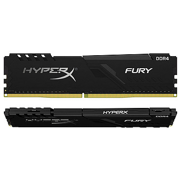 HyperX Fury 64 Go (2x 32 Go) DDR4 2400 MHz CL15 Kit Dual Channel 2 barrettes de RAM DDR4 PC4-19200 - HX424C15FB3K2/64