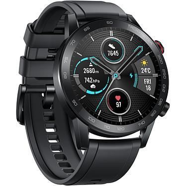 """Honor MagicWatch 2 (46 mm / Noir) Montre connectée - Étanche 50 m - Écran tactile AMOLED 1.3"""" - 454 x 454 pixels - 4 Go - GPS/Bluetooth 5.1 - 455 mAh - bracelet en fluoroélastomère"""