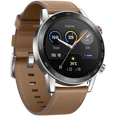 "Honor MagicWatch 2 (46 mm / Marrón) Smartwatch - Impermeable 50 m - Pantalla táctil AMOLED de 1.3"" - 454 x 454 píxeles - 4 GB - GPS/Bluetooth 5.1 - 455 mAh - correa de piel"