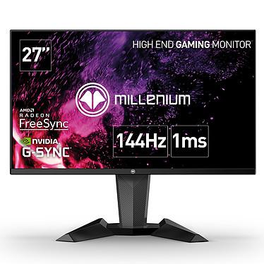 Millenium Display 27 PRO 2560 x 1440 pixels - 1 ms - Format 16/9 - Dalle TN - 144 Hz - FreeSync/Compatible G-Sync - DisplayPort/HDMI - Noir