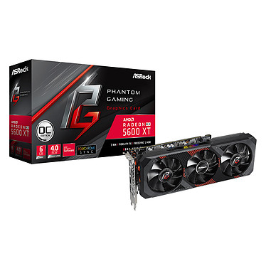 ASRock Radeon RX 5600 XT Phantom Gaming D3 6G OC (GDDR6 14 Gbit/s)