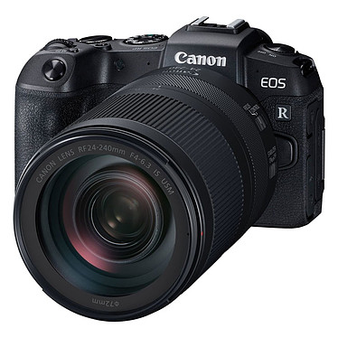 "Canon EOS RP + RF 24-240mm f/4-6.3 IS USM Appareil photo hybride plein format 26.2 MP - Vidéo Ultra HD - AF CMOS Dual Pixel - Ecran LCD tactile orientable 3"" - Wi-Fi/Bluetooth + Objectif 24-240mm f/4-6.3 IS USM"