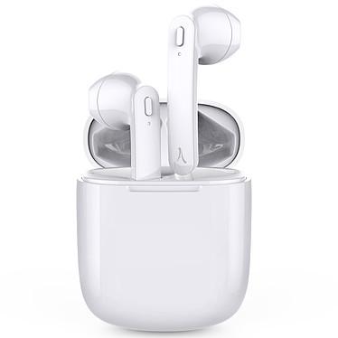 Akashi True Wireless Earbuds Blanc Écouteurs stéréo sans fil Bluetooth 5.0 et boitier de charge