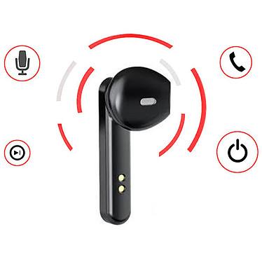 Akashi Écouteurs Bluetooth 5.0 Noir pas cher