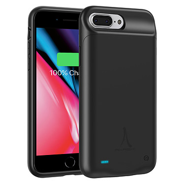 Akashi Coque Batterie Noire iPhone 6 Plus / 7 Plus / 8 Plus Coque batterie 4000 mAh pour iPhone 6 Plus / 7 Plus / 8 Plus