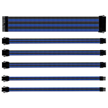 Cooler Master Sleeved Extension Cable Kit Negro/Azul Kit de extensión de manguito universal para la alimentación eléctrica (negro/azul)