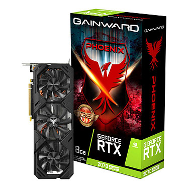 Gainward GeForce RTX 2070 SUPER Phoenix GS 8 Go 8 Go GDDR6 - HDMI/Tri DisplayPort - PCI Express (NVIDIA GeForce RTX 2070 SUPER)