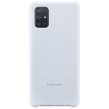Samsung Coque Silicone Argent Galaxy A71 Coque en silicone pour Samsung Galaxy A71