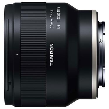 Tamron 20mm f/2.8 Di III OSD M1:2 Sony FE Objectif grand-angle plein format 20mm à ouverture f/2.8 et conception tropicalisée pour monture Sony FE