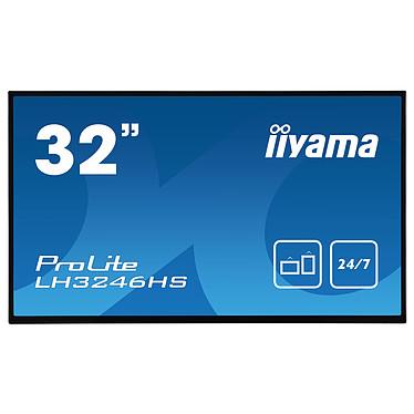 "iiyama 32"" LED - ProLite LH3246HS-B1 1920 x 1080 pixels 16:9 - IPS - 1100:1 - 10 ms - Android OS - HDMI/DisplayPort/DVI - Ethernet - Haut-parleurs intégrés - 24/7 - Noir"
