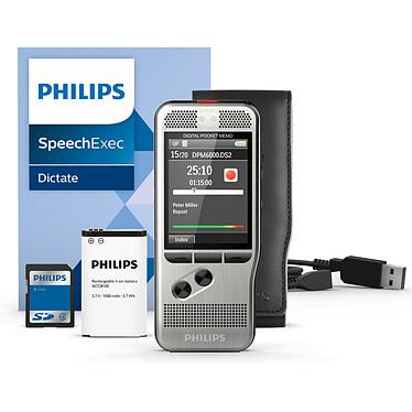 Philips DPM6000 Dictaphone numérique 8 Go avec deux microphones et slot SD