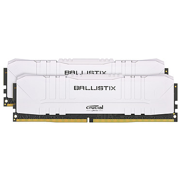 Ballistix White 16 Go (2 x 8 Go) DDR4 3000 MHz CL15 Kit Dual Channel RAM DDR4 PC4-24000 - BL2K8G30C15U4W